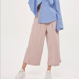 TOPSHOP Cropped Wide Leg Trousers